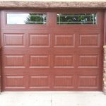 Photo of a wood residential garage door